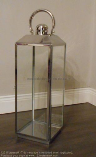 Stainless Steel Candle Lantern 60cm